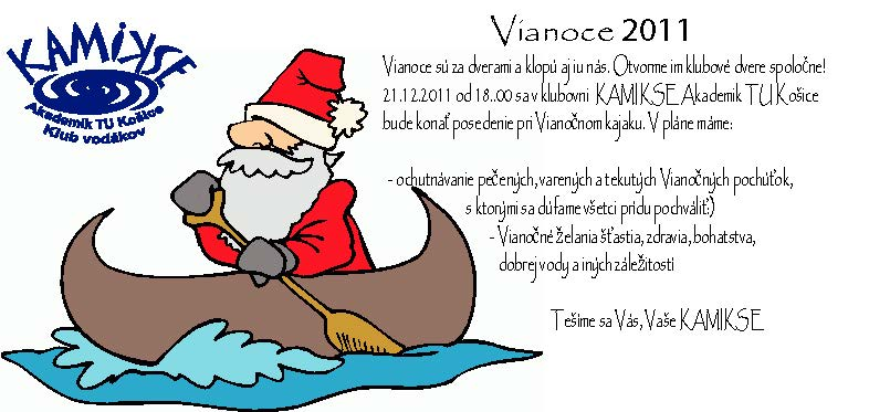 Posedenie pri vianočnom kajaku